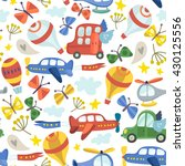 vector amazing patter of cars ... | Shutterstock .eps vector #430125556