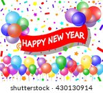 happy new year with balloons... | Shutterstock .eps vector #430130914