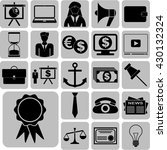 Business Icon Set. 22 Icons...