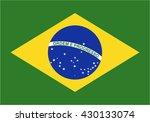 brazil flag icon | Shutterstock .eps vector #430133074