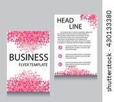 vector brochure flyer design... | Shutterstock .eps vector #430133380