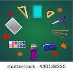 articles for the school  school ... | Shutterstock .eps vector #430138330