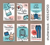 vector set of discount coupons... | Shutterstock .eps vector #430142920