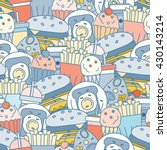 food seamless pattern. vector... | Shutterstock .eps vector #430143214