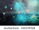 smart logistics and wireless... | Shutterstock . vector #430149568