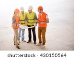 modern building and workers | Shutterstock . vector #430150564