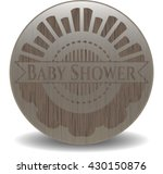 baby shower vintage wooden... | Shutterstock .eps vector #430150876
