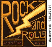 rock and roll tee graphic | Shutterstock .eps vector #430153834