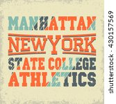 new york sport wear typography... | Shutterstock .eps vector #430157569