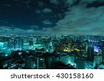 sao paulo skyline at night ... | Shutterstock . vector #430158160