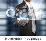 businessman with financial... | Shutterstock . vector #430158298