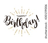 happy birthday. beautiful... | Shutterstock .eps vector #430159006