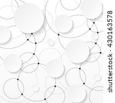 overlapping circles with... | Shutterstock .eps vector #430163578