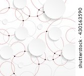 overlapping circles with... | Shutterstock .eps vector #430163590