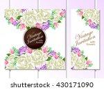 romantic invitation. wedding ... | Shutterstock .eps vector #430171090