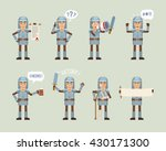 set of knight characters posing ... | Shutterstock .eps vector #430171300