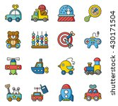 icon set toy vector | Shutterstock .eps vector #430171504