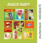 korea snack vector illustration | Shutterstock .eps vector #430182670
