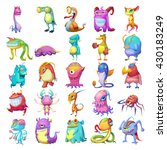 25 colorful monster creatures.... | Shutterstock . vector #430183249