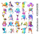 25 Colorful Creatures. Monster...