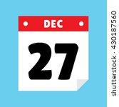 calendar icon flat december 27