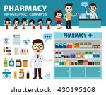 drugs icons set isolated on... | Shutterstock .eps vector #430195108
