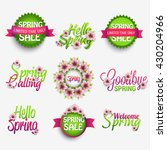 spring glossy label and... | Shutterstock .eps vector #430204966