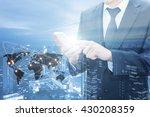 double exposure of businessman...   Shutterstock . vector #430208359