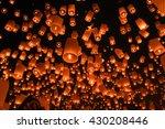 balloon fire  yeepeng in north... | Shutterstock . vector #430208446