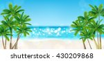 palm trees on the beach | Shutterstock .eps vector #430209868