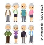 cute cartoon senior people set. ... | Shutterstock .eps vector #430214626