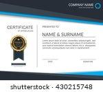 certificate template ... | Shutterstock .eps vector #430215748
