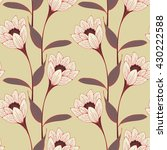 a vintage english style floral... | Shutterstock .eps vector #430222588