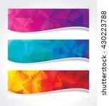 a set of modern geometric... | Shutterstock .eps vector #430223788