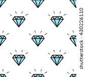 diamond in doodle style.... | Shutterstock .eps vector #430226110