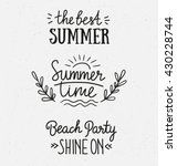 hand drawn stylish typography... | Shutterstock .eps vector #430228744