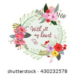 with all my heart. stylish... | Shutterstock .eps vector #430232578