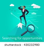 businessman searching for... | Shutterstock .eps vector #430232980