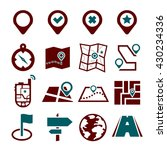 location  position icon set | Shutterstock .eps vector #430234336