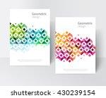 white brochure  leaflet  flyer  ... | Shutterstock .eps vector #430239154
