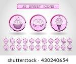 vector modern style line icons... | Shutterstock .eps vector #430240654