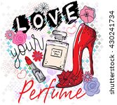 typography cute romantic love... | Shutterstock .eps vector #430241734