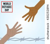 world refugee day campaign... | Shutterstock .eps vector #430252894