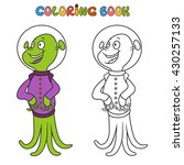 coloring book with aliens....   Shutterstock .eps vector #430257133