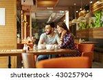 enjoying time in cafe   Shutterstock . vector #430257904