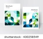 green brochure cover template.... | Shutterstock .eps vector #430258549