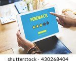 customer feedback comment vote... | Shutterstock . vector #430268404