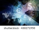 financial technology fintech ... | Shutterstock . vector #430271950