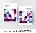 white brochure cover template   ... | Shutterstock .eps vector #430275766