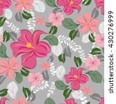 seamless flowers pattern | Shutterstock .eps vector #430276999